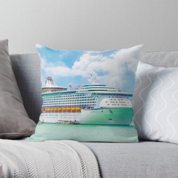 Royal Caribbean Cruise Ship Throw Pillow