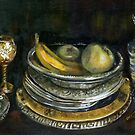 China Cabinet Still Life I (study) by F.A. Moore