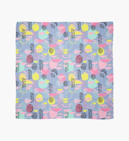 Abstract pattern nursery minimal pattern pink mint pastels and white abstract pattern design by CharlotteWinter Scarf
