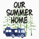 Summer Home RV Motor Home Camping Watercolor by SportsT-Shirts
