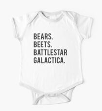 Bears Beets Battlestar Galactica! One Piece - Short Sleeve