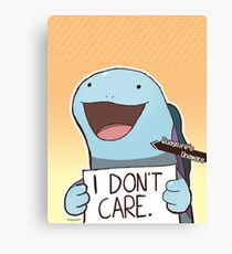 "Quagsire ""I don't care"" Pokémon Canvas Print"