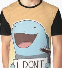 """Quagsire """"I don't care"""" Pokémon Graphic T-Shirt"""