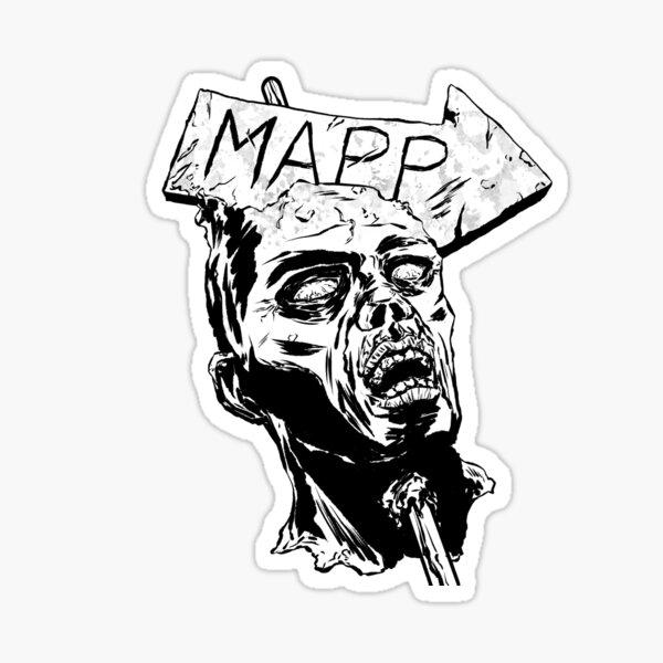 MAPP Zombie Head Logo Sticker