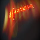Hotel Red Neon Sign by Larry  Stewart