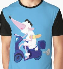 Le French poodle (de Moped Traveller with yummy Baguette) Graphic T-Shirt