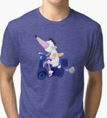 Le French poodle (de Moped Traveller with yummy Baguette) Tri-blend T-Shirt