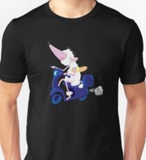 Le French poodle (de Moped Traveller with yummy Baguette) T-Shirt