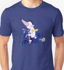 Le French poodle (de Moped Traveller with yummy Baguette) Unisex T-Shirt