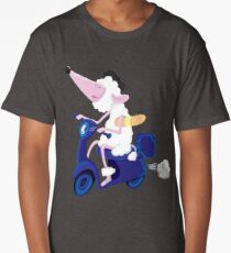 Le French poodle (de Moped Traveller with yummy Baguette) Long T-Shirt
