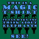 Magic T-Shirt (blue) by HandDrawnTees