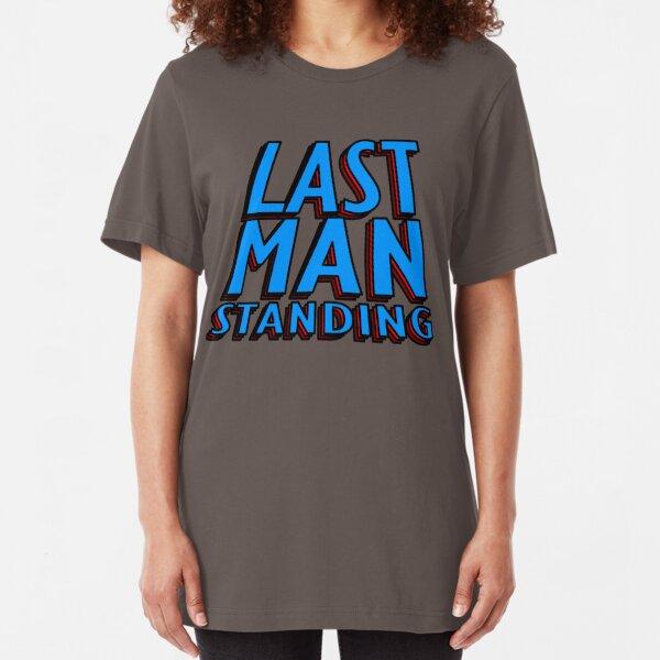 Last Man Standing (blue) Slim Fit T-Shirt