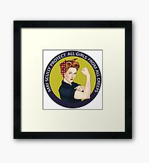 May Scully protect all girls from all creeps Framed Print