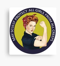 May Scully protect all girls from all creeps Canvas Print