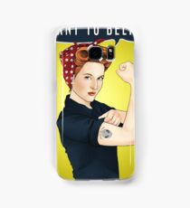 Scully the riveter Samsung Galaxy Case/Skin