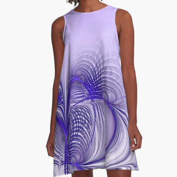 fliederfarben  A-Linien Kleid