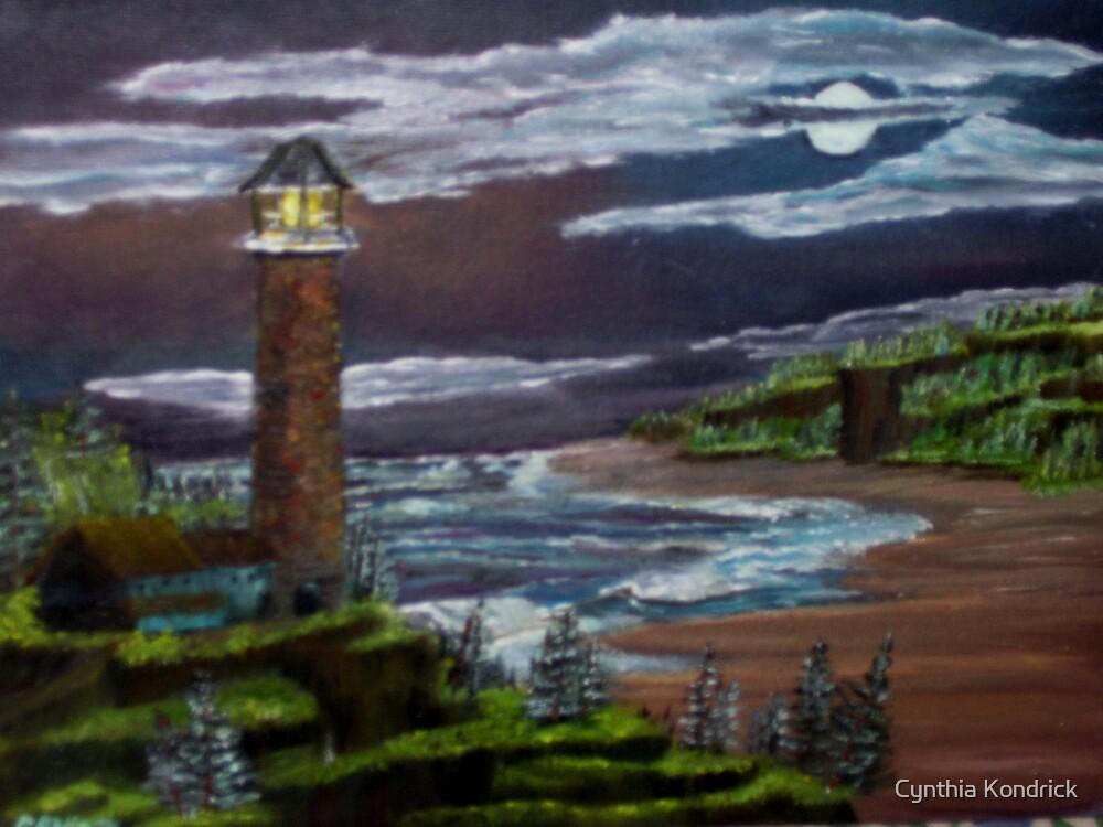 Night Lights By The Sea by Cynthia Kondrick