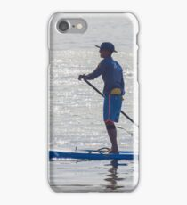 paddle board in San Diego bay iPhone Case/Skin