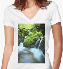 Moine Long Exposure Women's Fitted V-Neck T-Shirt