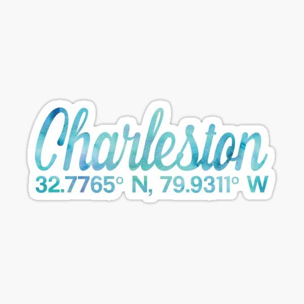 Charleston Coordinates Sticker