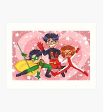 Young Justice Boys Art Print