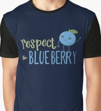 Respect The Blueberry - Cute Graphic T-Shirt