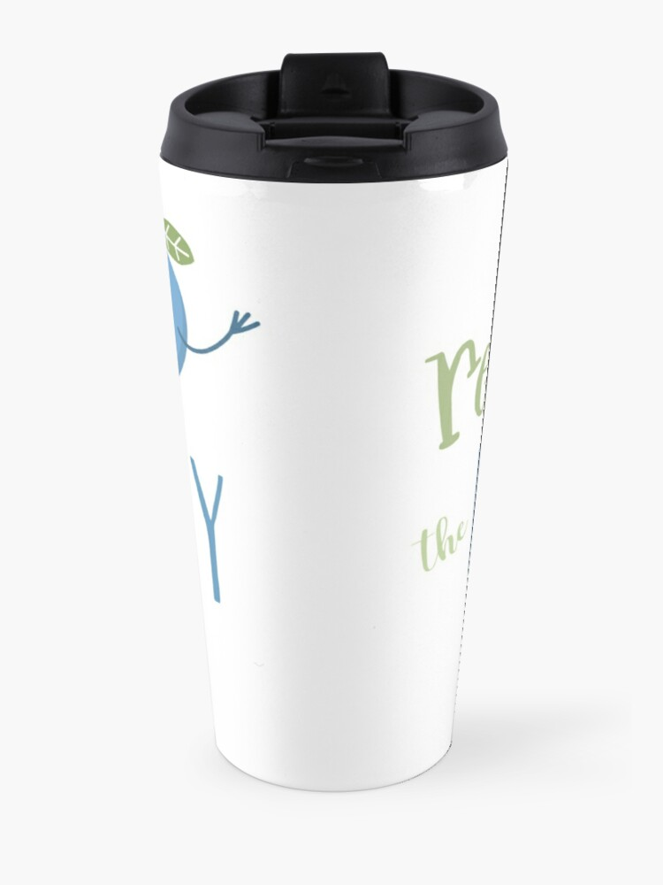 Alternate view of Respect The Blueberry - Cute Travel Mug