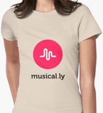 Musically // Musical.ly Logo Womens Fitted T-Shirt