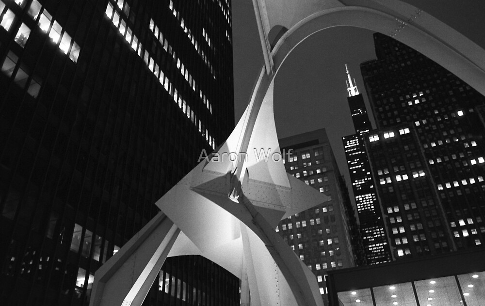 Downtown with Calder by Aaron Wolf