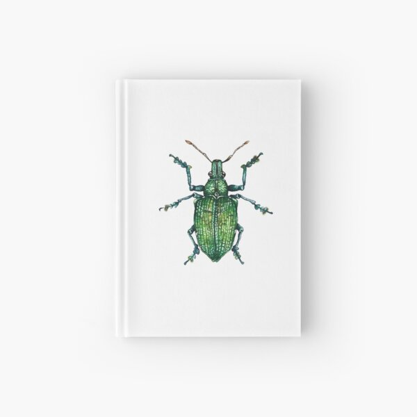 Green Bug Hardcover Journal