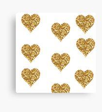 Hearth Glitter Canvas Print