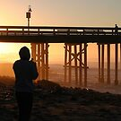 Photographer At Sunset by Henrik Lehnerer