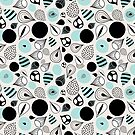 abstract pattern of drops and stains by Tanor