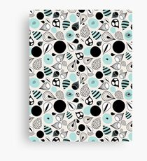 abstract pattern of drops and stains Canvas Print