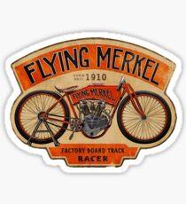 Flying Merkel Vintage Logo Sticker