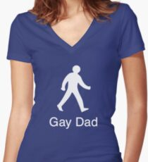 Gay Dad - The Next Generation Women's Fitted V-Neck T-Shirt