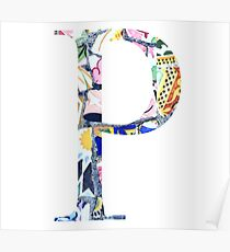 Barcelona Gaudi Mosaic Rho Greek Sorority Letter Poster