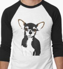 Zoe the Chihuahua Cartoon Portrait Men's Baseball ¾ T-Shirt
