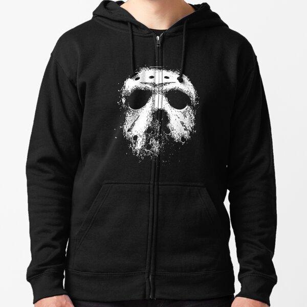 Jason Voorhees Hockey Mask Zipped Hoodie