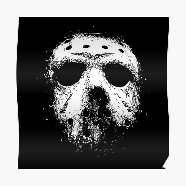 Jason Voorhees Hockey Mask Poster