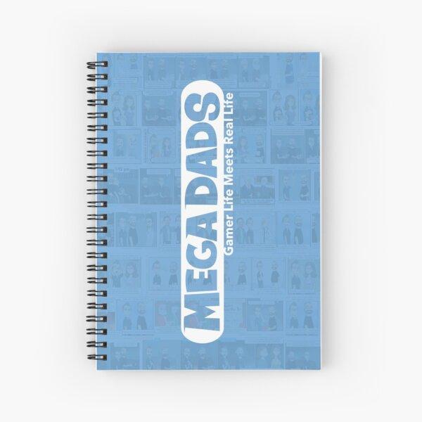 Mega Dads Logo on Blue Spiral Notebook