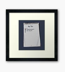 Todo List Framed Print