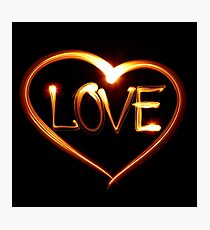 Love - Light graphic Photographic Print