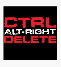 Ctrl-Alt-Right-Delete Photographic Print