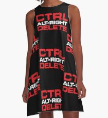Ctrl-Alt-Right-Delete A-Line Dress