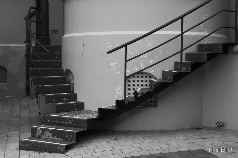 Steps and Peeling Paint - Sydney Hospital by Noel Elliot