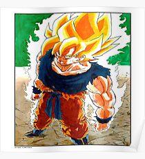Dragonball Z Super Sayain Goku Poster