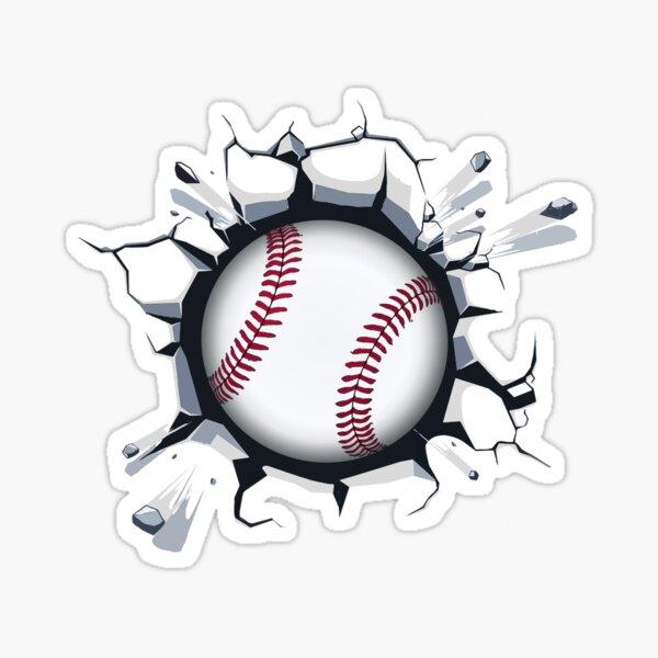 Baseball Smash Sticker
