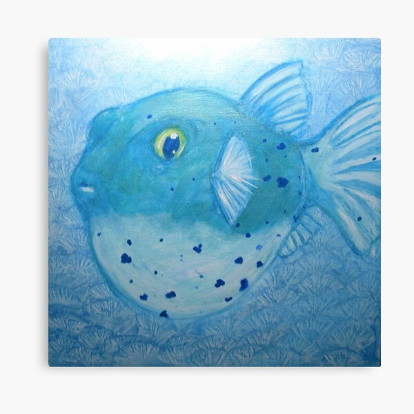 Puffer Fish Canvas Prints Redbubble