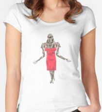 Red Dress Cylon Women's Fitted Scoop T-Shirt